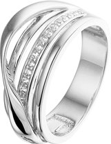 The Jewelry Collection Ring Zirkonia - Zilver