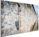 Berlijnse muur met gat Aluminium 120x80 cm - Foto print op Aluminium (metaal wanddecoratie)