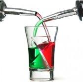 Set van 5 twisted shot glaasjes (Kunststof)