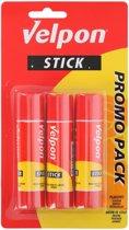 3x Hobby lijm stick 21 gram - Lijmstiften - Kantoor benodigdheden/Knutsel spulletjes