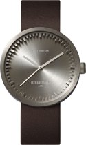 LEFF amsterdam tube watch D42 - Stainless Steel - Steel Case - Brown leather strap - Ø 42mm - LT72002 - Quartz Movement