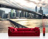 "Fotobehang ""New York Brooklyn bridge skyline"" vliesbehang 300x210cm"