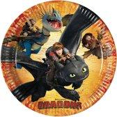 8 kartonnen How to train your Dragon™ borden - Feestdecoratievoorwerp