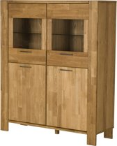 Riva dressoir met 4 deuren, 2 in glas in gefineerd eiken