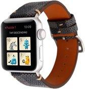 123Watches.nl Leren bandje - Apple Watch Series 1/2/3/4 (38&40mm) - Zwart