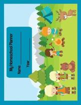 My Homeschool Planner: Camping Fun Flexible Interactive Lesson Plan Book & Homeschool Curriculum Organizer for One Student