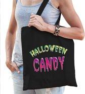 Halloween -  Halloween candy snoeptas zwart voor dames - horror snoepzak/candyzak