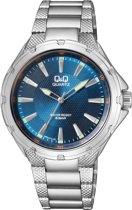 Q&Q Heren horloge -Met blauw wijzerplaat-Q964J212Y