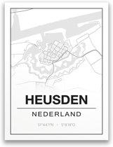 Poster/plattegrond HEUSDEN - 30x40cm