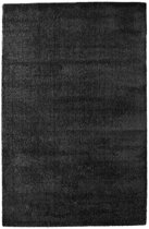 Basic Collection Hoogpolig Vloerkleed Silky 120x170 - Zwart