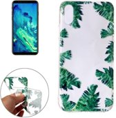 iPhone X / XS - hoes, cover, case - TPU - Transparant - Bananenblad