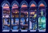 Fotobehang City View By Night   L - 152.5cm x 104cm   130g/m2 Vlies