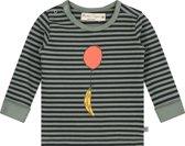 Smitten Organic - Banaan en Balloon Lange Mouw T-Shirt- Neutral Gray - Maat(122)