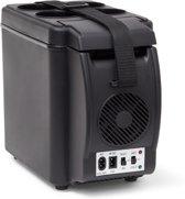 relaxdays - koelbox met bekerhouder 6 liter - mini koelkast - warmtefunctie