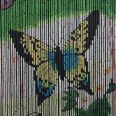 Bamboe vliegengordijn vlinder 90 x 200 cm