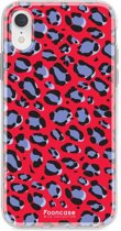 Iphone XR - TPU Soft Case - Back Cover telefoonhoesje - Leopard / Rood