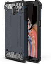 Armor Hybrid Samsung Galaxy J6 Plus Hoesje - Blauw