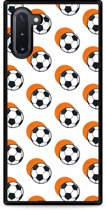 Galaxy Note 10 Hardcase hoesje Soccer Ball Orange Shadow