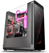 Thermaltake View 27 Mid Tower PC Case with Shaped Side Window - Black