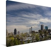 De hoge gebouwen van Sacramento in de Amerikaanse staat Californië Canvas 140x90 cm - Foto print op Canvas schilderij (Wanddecoratie woonkamer / slaapkamer)