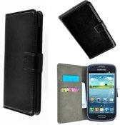Samsung Galaxy S4 i9500 Wallet Bookcase hoesje Zwart