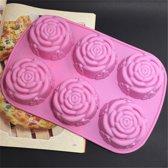 Multifunctionele 3D Siliconen Rozen Bakvorm - Mini Cakevorm Voor Cupcake / Muffins / Cake / Chocolade Vormpjes - Cupcakevorm / Cupcakevormpjes / Muffinvorm / Muffinvormpjes / Chocoladevorm