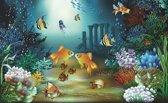 Fotobehang Zee   Groen, Blauw   312x219cm