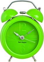 Salt&Pepper Zone Klok - 9 cm - Wekkerfunctie - groen