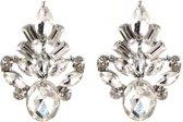 Oorhangers Crystal - Oorbellen - Earrings 2x3cm Wit - Musthaves
