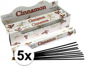 5x pakje wierook stokjes kaneel 20 stuks