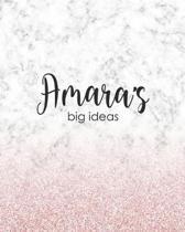 Amara's Big Ideas: Personalized Notebook - 8x10 Lined Women's Journal