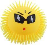 Toi-toys Pufferbal Emoji Bril Geel 15 Cm