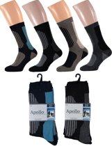 4 paar Heren badstof thermo sokken 41-46