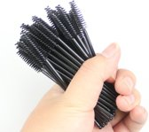 50x disposable eye brush Zwart/zwart wimperborstel