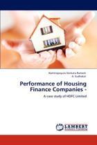 Performance of Housing Finance Companies -