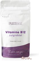 Vitamine B12 zuigtablet (Voor het geheugen, zenuwstelsel en meer energie) - 90 tabletten - Flinndal