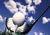 Fotobehang Golf Ball Club Sky Clouds | M - 104cm x 70.5cm | 130g/m2 Vlies