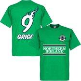 Noord Ierland Will Grigg 9 Team T-Shirt - XXL