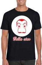 Salvador Dali bankovervaller t-shirt zwart voor heren - Bella Ciao XL
