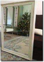 Brocante spiegel Brittany Wit medium 65mm Buitenmaat 74x135cm
