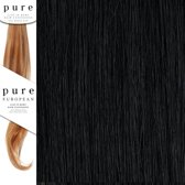 Pure Clip in Remy Hair Extentions 45 cm Colour 1