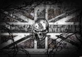 Fotobehang Alchemy Skull Union Jack Tattoo | DEUR - 211cm x 90cm | 130g/m2 Vlies
