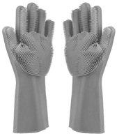 Siliconen Schoonmaak Handschoenen – Huishoudhandschoenen - Poetshandschoenen - Huishoudaccessoires - Grijs