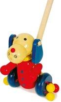 Duwfiguur hout - Hondje - Houten speelgoed vanaf 2 jaar