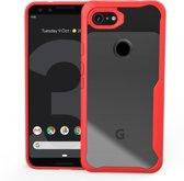 Mobigear Acrylic Shockproof Hoesje Rood Google Pixel 3a
