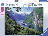 Ravensburger puzzel Noors fjord - Legpuzzel - 1000 stukjes
