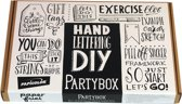Handletterbox Paperfuel DIY 'Make your own Cards' + 1 x  A5 Handlettering Oefenblok Kerst Editie