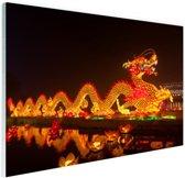 Chinese lantaarndraak Glas 120x80 cm - Foto print op Glas (Plexiglas wanddecoratie)