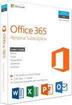 Microsoft Office 365 Personal 1 jaar abonnement - Engels