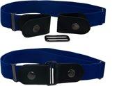 Blauw - elastische comfort riem zonder gesp - one size fits all.